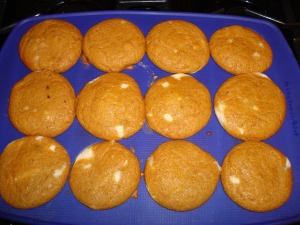 Those moist vegan pumpkin cupcakes.