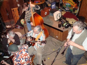 Bluegrass band playing at Squirrel's Tavern tonight.