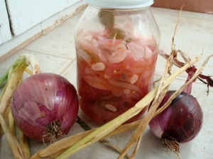 Pickled onions from my garden.