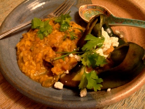 A naked chile relleno, baked instead of battered or fried.