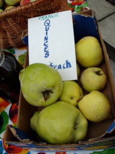 Local quinces, including ones that are apparently edible raw.