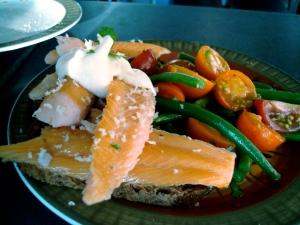 Trout salad at Kir.