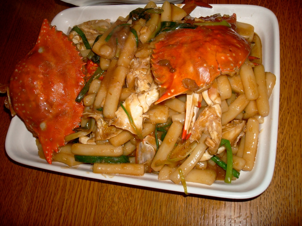 Ningbo Crab with Sticky Rice Cakes (Nian Gao) (1/6)