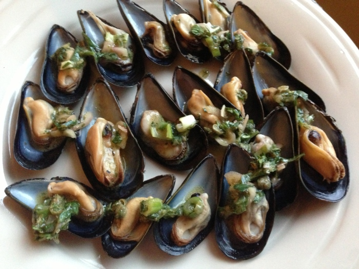 Chilled Mussels on the Half-Shell, from David Tanis's book, One Good Dish: The Pleasures of a Simple Meal.""