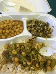 Stumbled into Sree's Foods in downtown Pittsburgh Friday: $5.89 vegan Hyderabadi authentic Indian dishes like green beans and peanuts and black-eyed pea spinach curry. A welcome oasis, if a decrepit building, and a super-satisfying lunch. Seemed a good omen to run into the Planned Parenthood delegation from Portland and Lewiston, Maine there. A big Planned Parenthood rally hung their pink banners up somewhat sheepishly there at the Pittsburgh Convention Center.