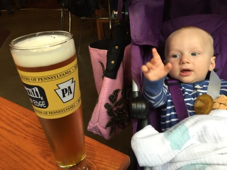 """I'll have one of those Great Lakes Double IPAs,"" baby Emmet concurred at the Sharp Edge Beer Emporium."